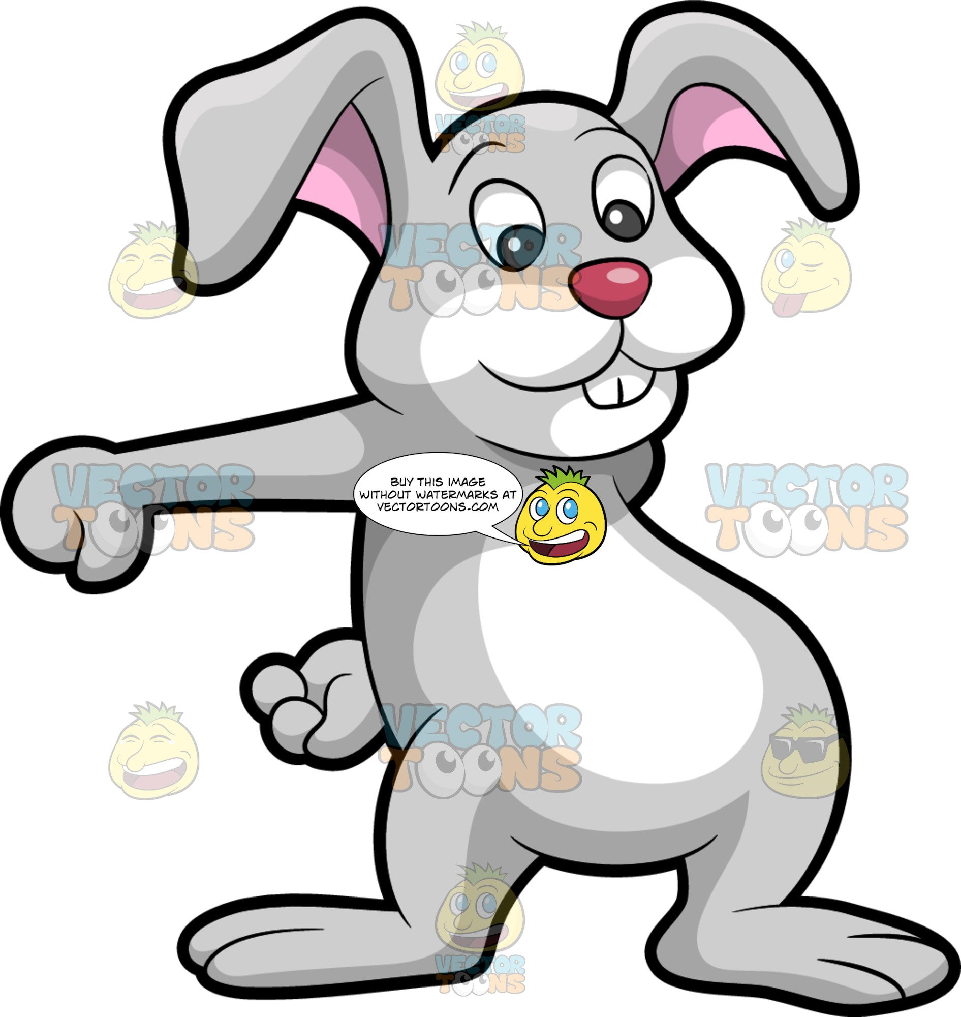 Flossing clipart vector The Easter Bunny Dancing The Floss vector
