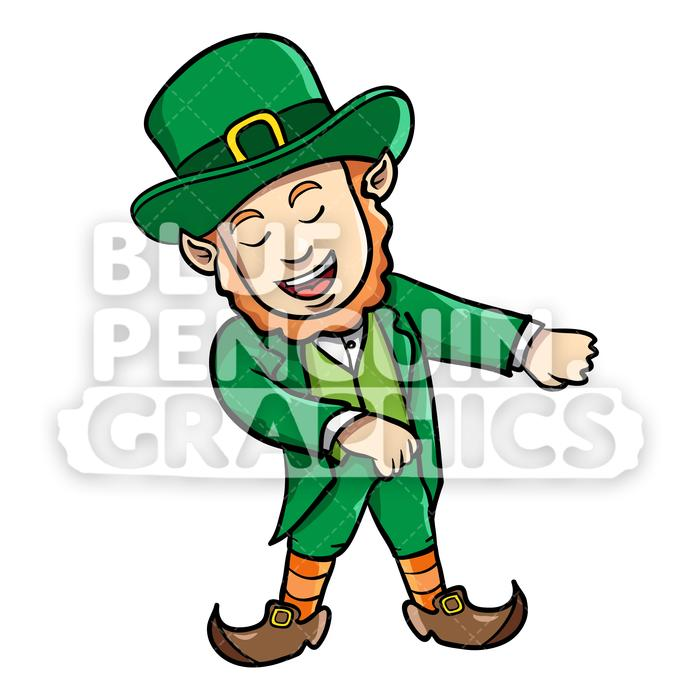 Flossing clipart svg royalty free Leprechaun Flossing Vector Cartoon Clipart Illustration svg royalty free