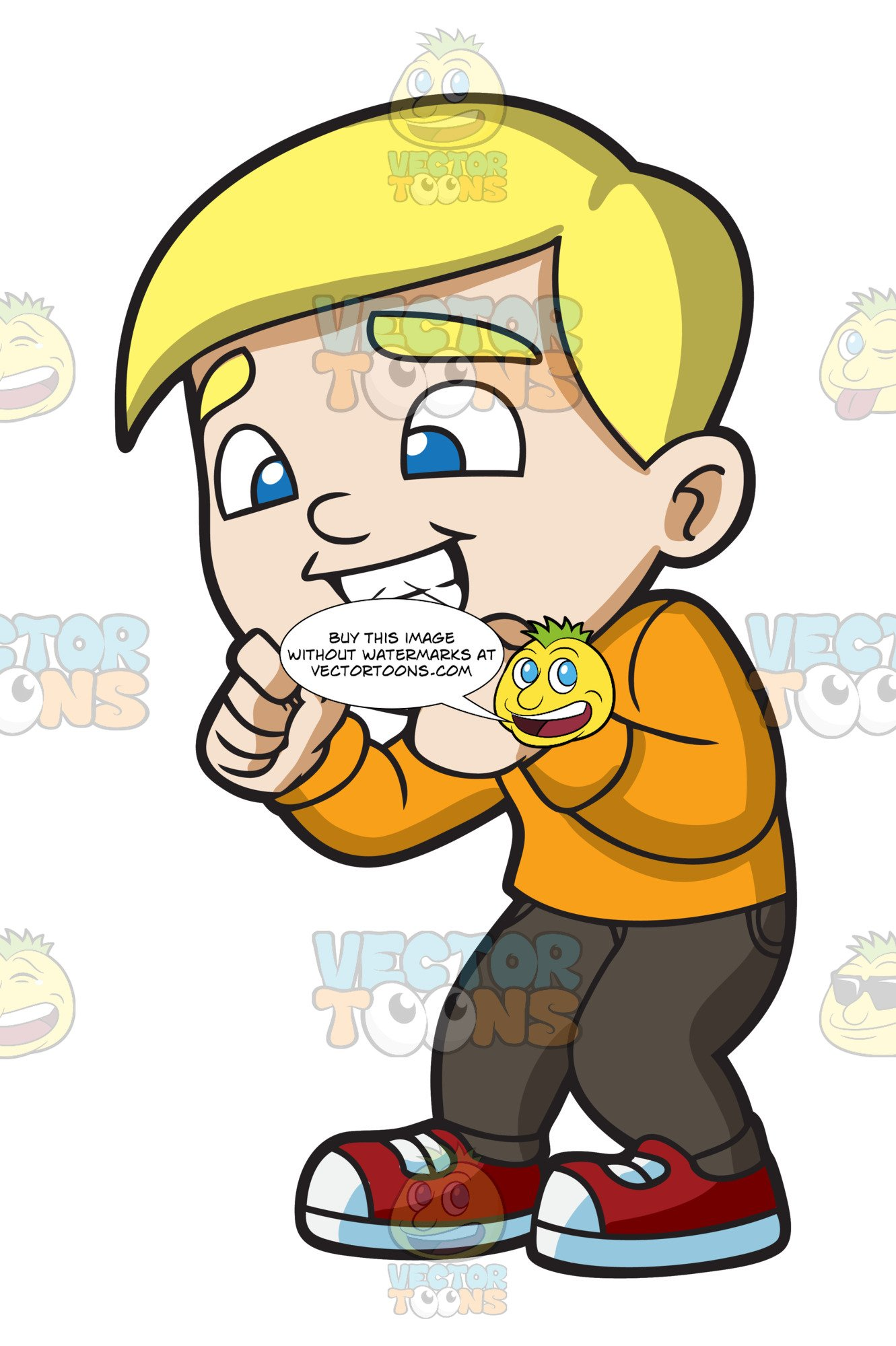 Flossing teeth clipart svg transparent library A Boy Flossing His Teeth After A Meal svg transparent library