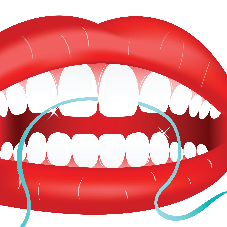 Flossing teeth clipart jpg black and white download Oral Hygiene | Dental Cleanings Austin | Ueckert Dentistry | Austin ... jpg black and white download
