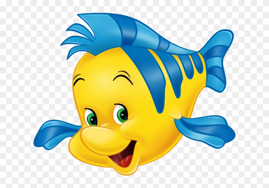 Flounder clipart graphic free Picture Library Stock Ariel Transparent Flounder - Little Mermaid ... graphic free