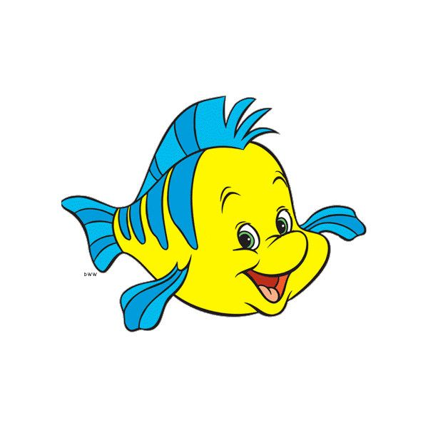 Flounder clipart clip art free library Flounder Clipart from Disney\'s ❤ liked on Polyvore featuring disney ... clip art free library