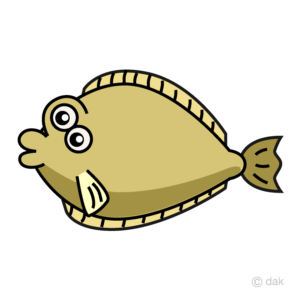 Flounder clipart clip freeuse library Cute Flounder Clipart Free Picture|Illustoon clip freeuse library