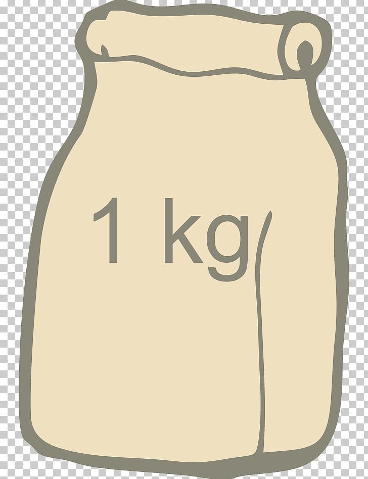 Flour sack clipart. Bag drawing png beige