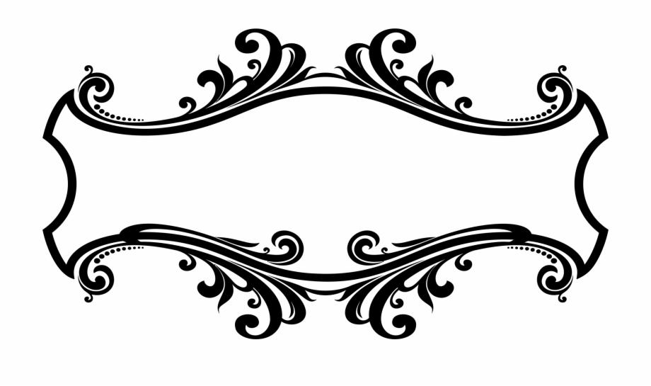 Flourish border clipart. Decorative ornamental clip art