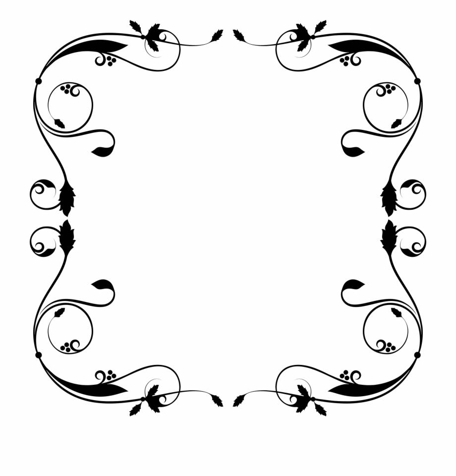Flourish border clipart. Free download simple frame