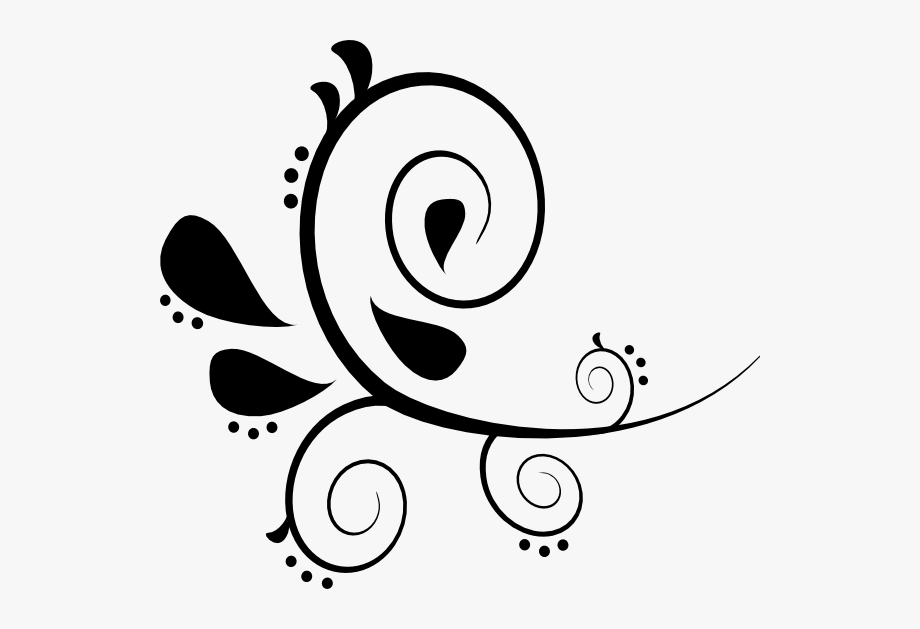 Flourish clipart black and white graphic royalty free download Free Flourish Clipart - Design In Project File #98266 - Free ... graphic royalty free download