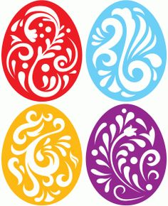 Flourish easter egg clipart graphic freeuse library I think I'm in love with this shape from the Silhouette Online ... graphic freeuse library