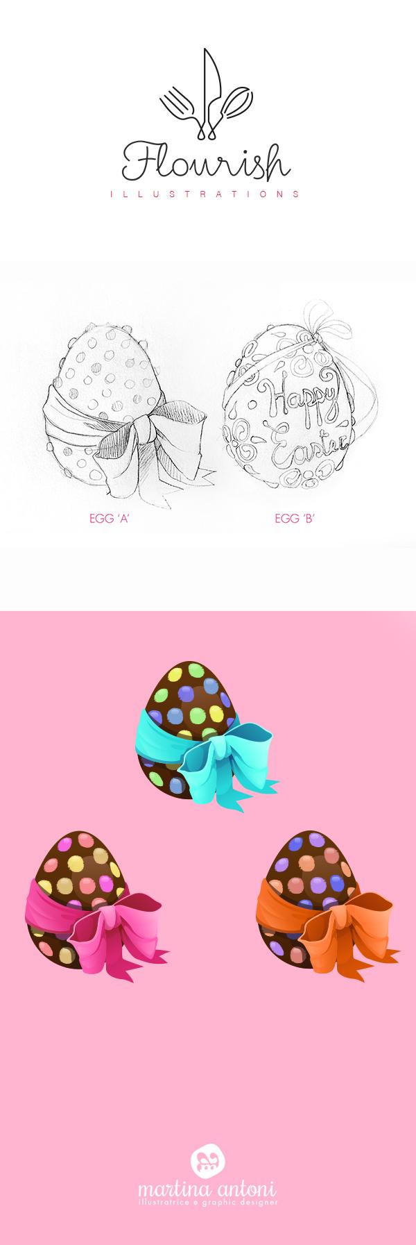Flourish easter egg clipart jpg black and white Flourish - Easter Egg on Behance jpg black and white