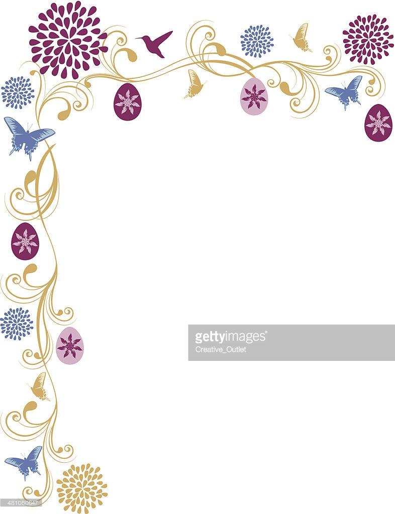 Flourish easter egg clipart vector transparent download Easter Egg Flourish C Vector Art | Getty Images vector transparent download