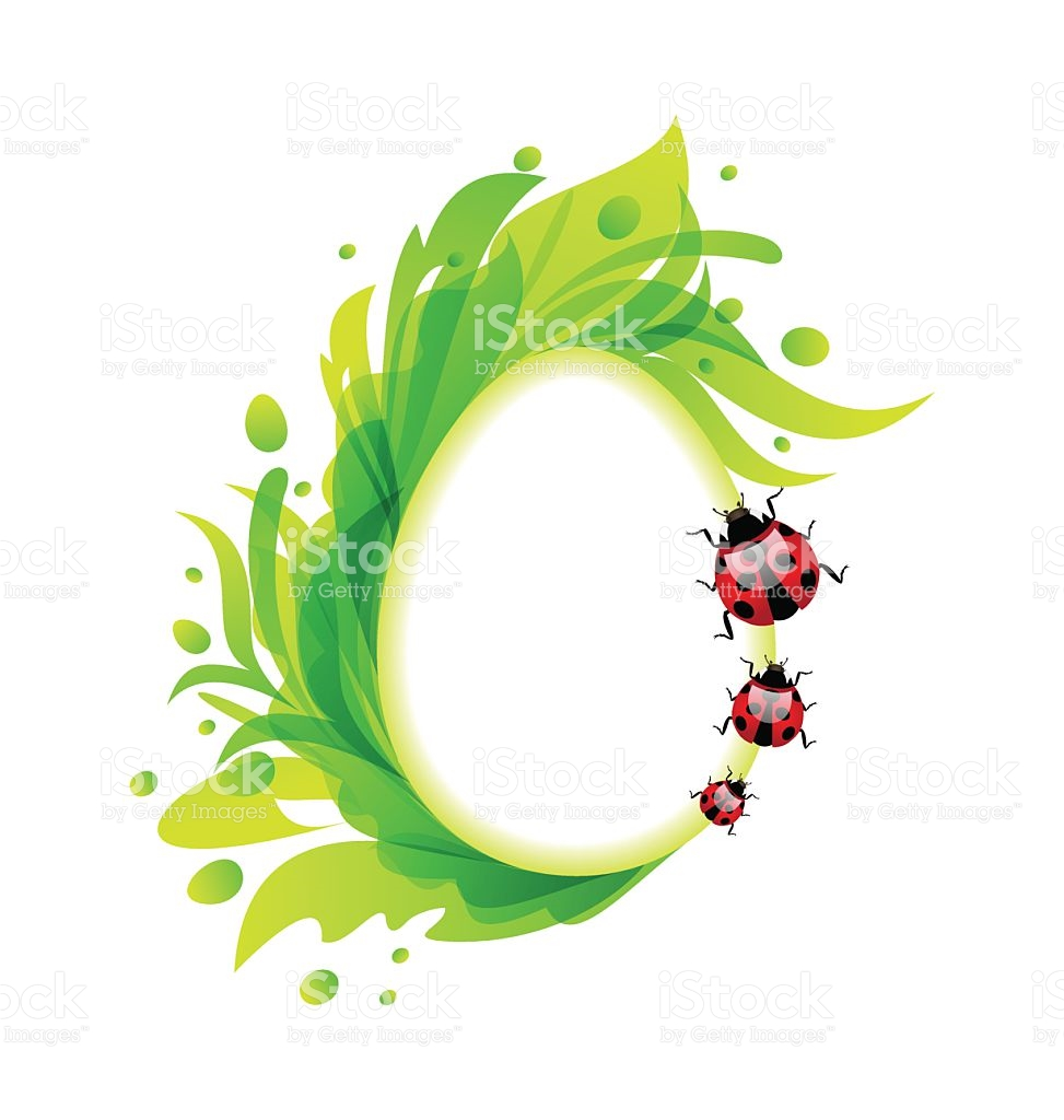 Flourish easter egg clipart picture black and white Easter Flourish Egg With Ladybirds stock vector art 467949270 | iStock picture black and white