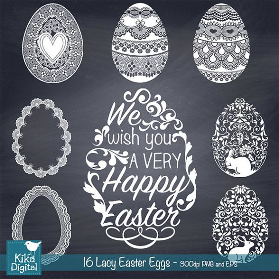 Flourish easter egg clipart svg royalty free Lace Easter Eggs Clip Art - Easter Hand Lettering , Easter Eggs ... svg royalty free