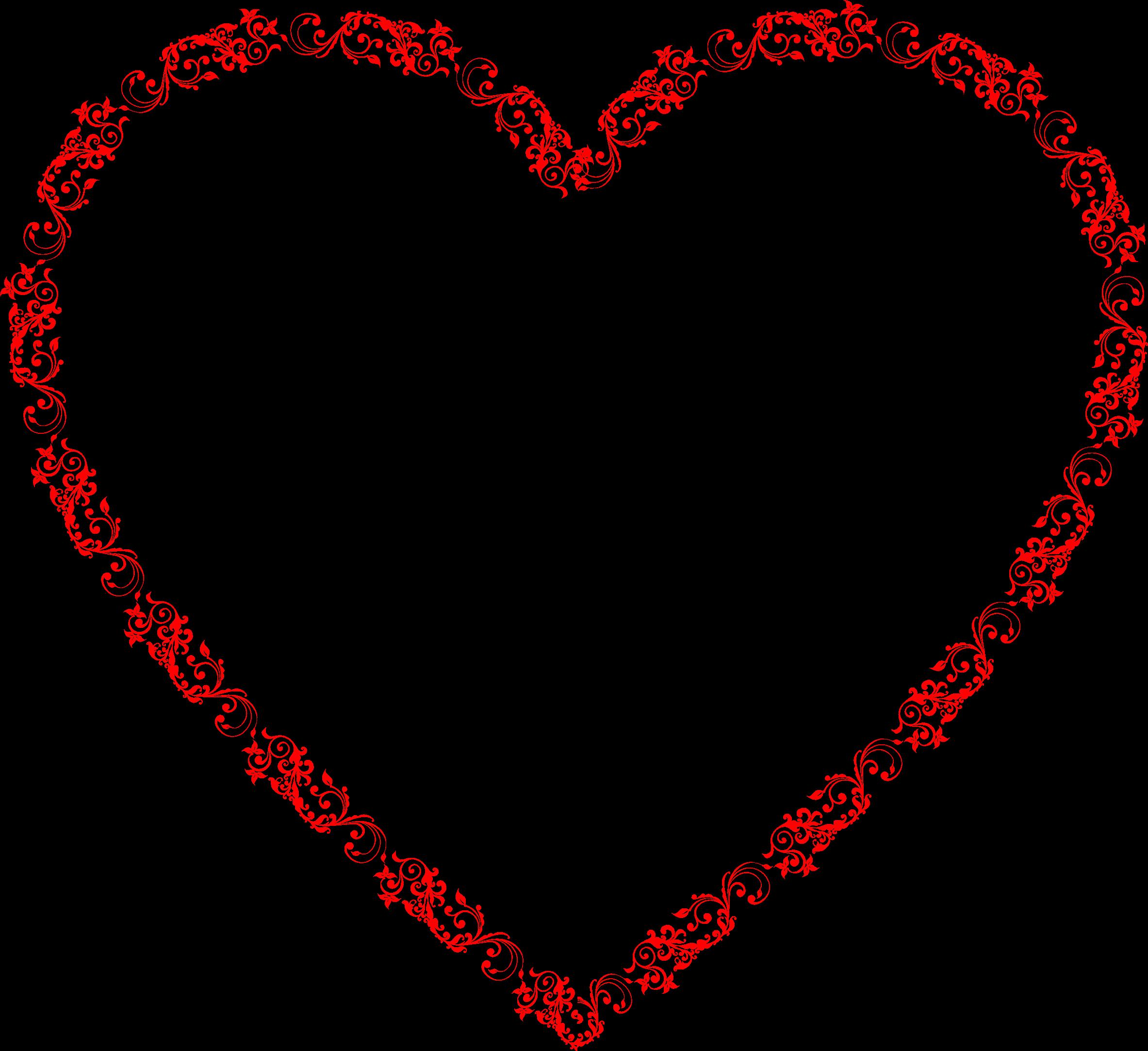 Flourish heart clipart clip freeuse download Clipart - Flourish Heart clip freeuse download
