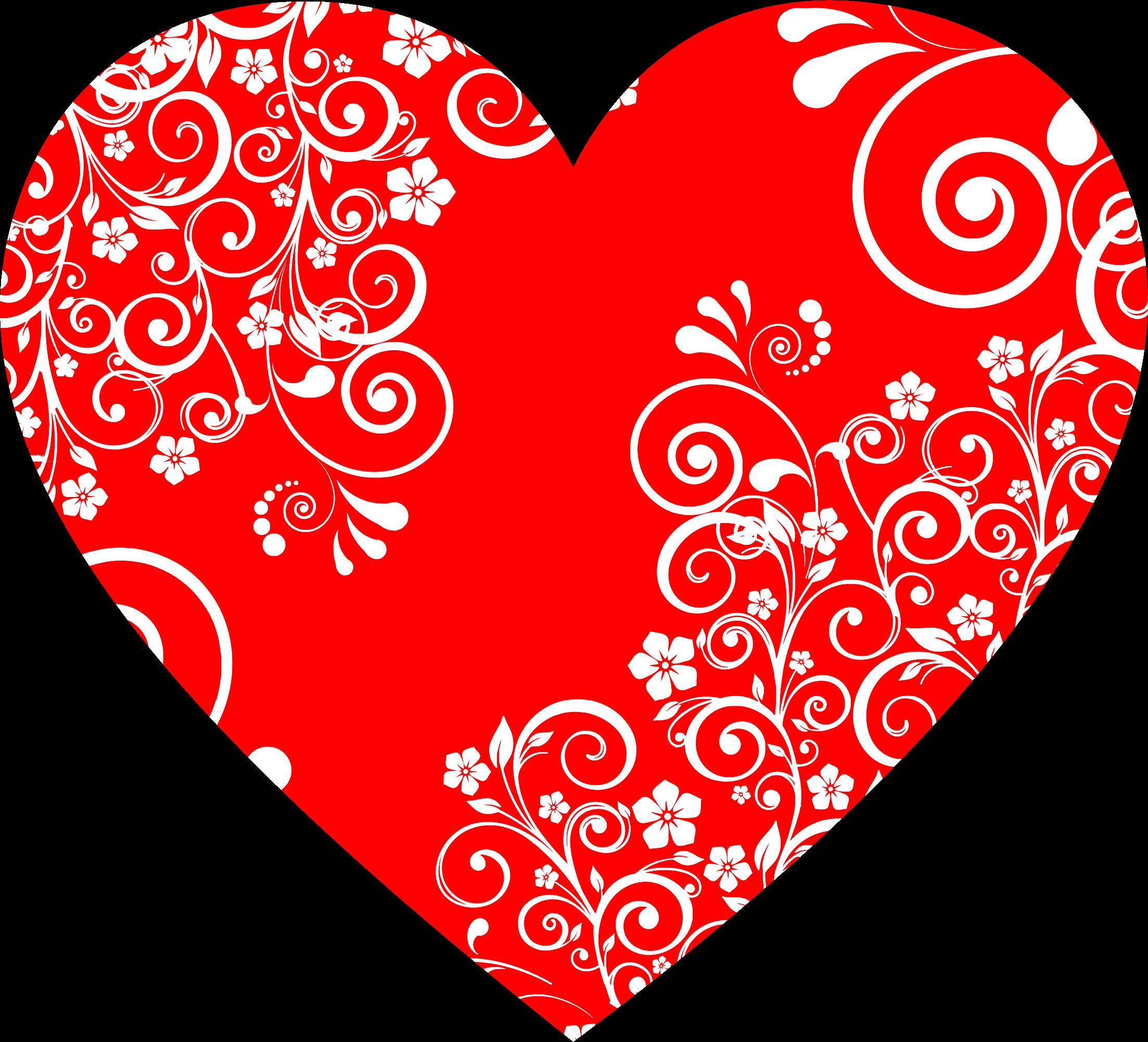 Flourish heart clipart banner library stock Clipart - Floral Flourish Heart 2 banner library stock