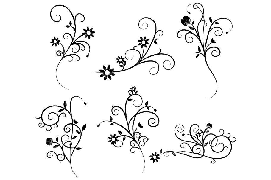 Flourish swirls clipart clip art free download Flower Flourish Swirl Clipart clip art free download