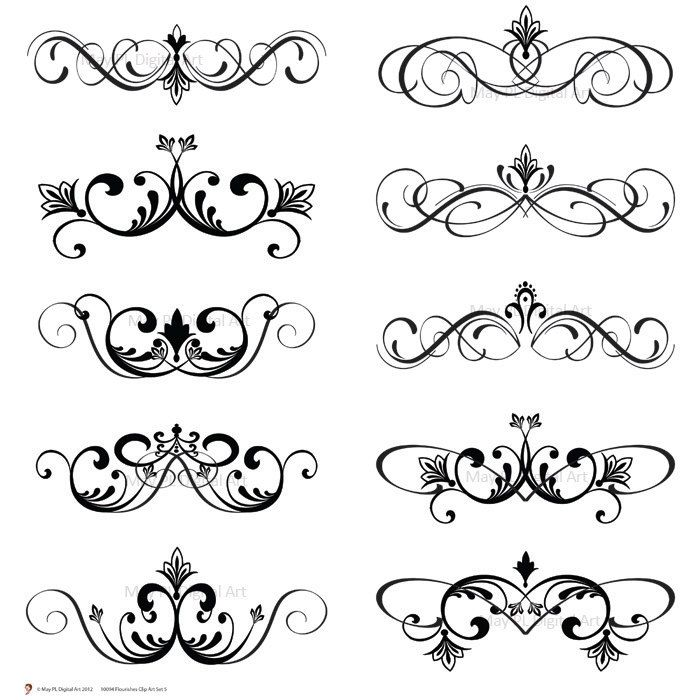 Word clipart wedding embellishments clipart black and white download Free Weddings Swirls Clip Art | ... Clip Art Clipart Vintage ... clipart black and white download