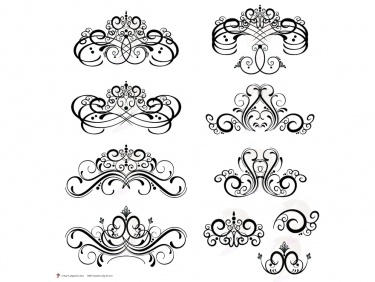 Flourish swirls clipart png library library Digital Flourish Clip Art Vintage Flourish Swirls Design Clipart Fleur De  Lis Digital Frame use as Decorative Embellishments 10091 | Meylah png library library