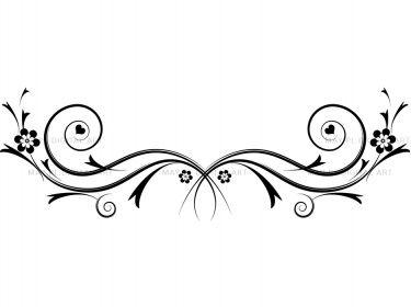 Flourish swirls clipart black and white download Flourishes decorations black curly flourishes swirls clipart ... black and white download