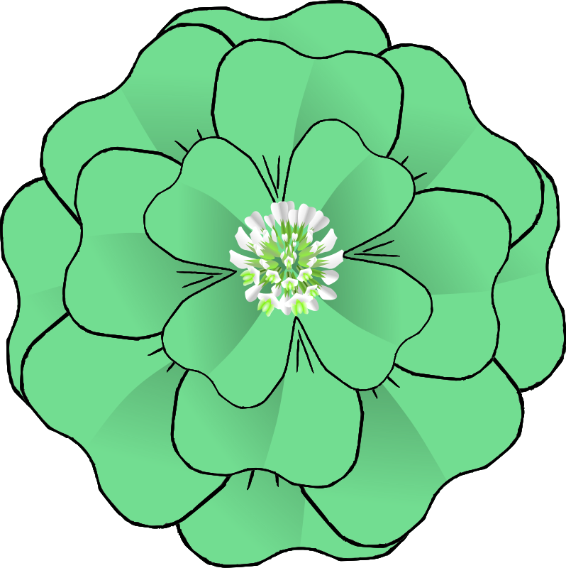 Flower 3d clipart picture free Free Clipart: Flower 4 Leaf Clover Corsage-resubmission   BAJ picture free