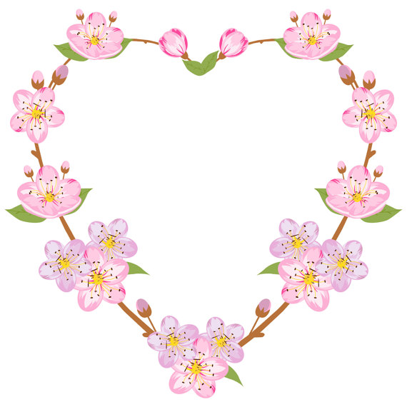 Flower and heart wreath clipart picture library library Pinterest picture library library