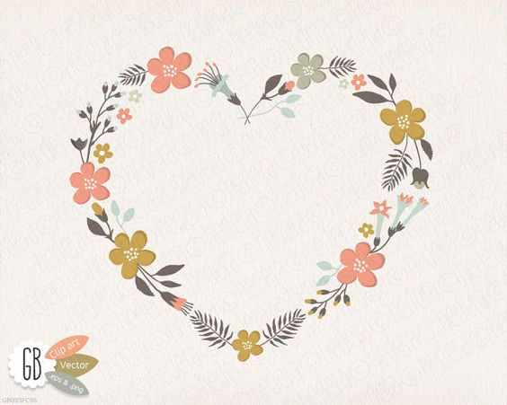 Flower and heart wreath clipart png free Free Flower Heart Cliparts, Download Free Clip Art, Free Clip Art on ... png free