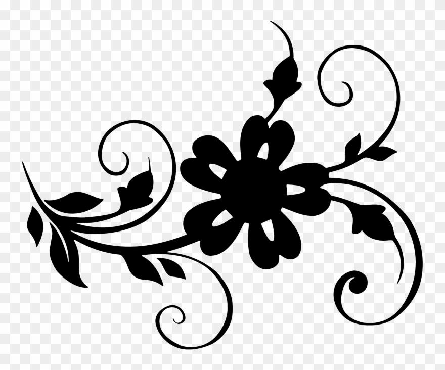 Flower and leaf clipart picture transparent stock Medium Image - Flower Leaf Clipart - Png Download (#1298656 ... picture transparent stock