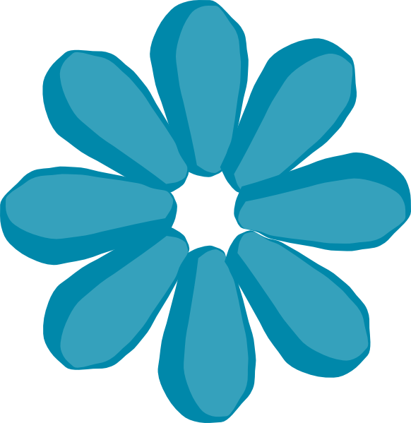 Stem flower clipart picture transparent Blue Flower No Stem Clip Art at Clker.com - vector clip art online ... picture transparent