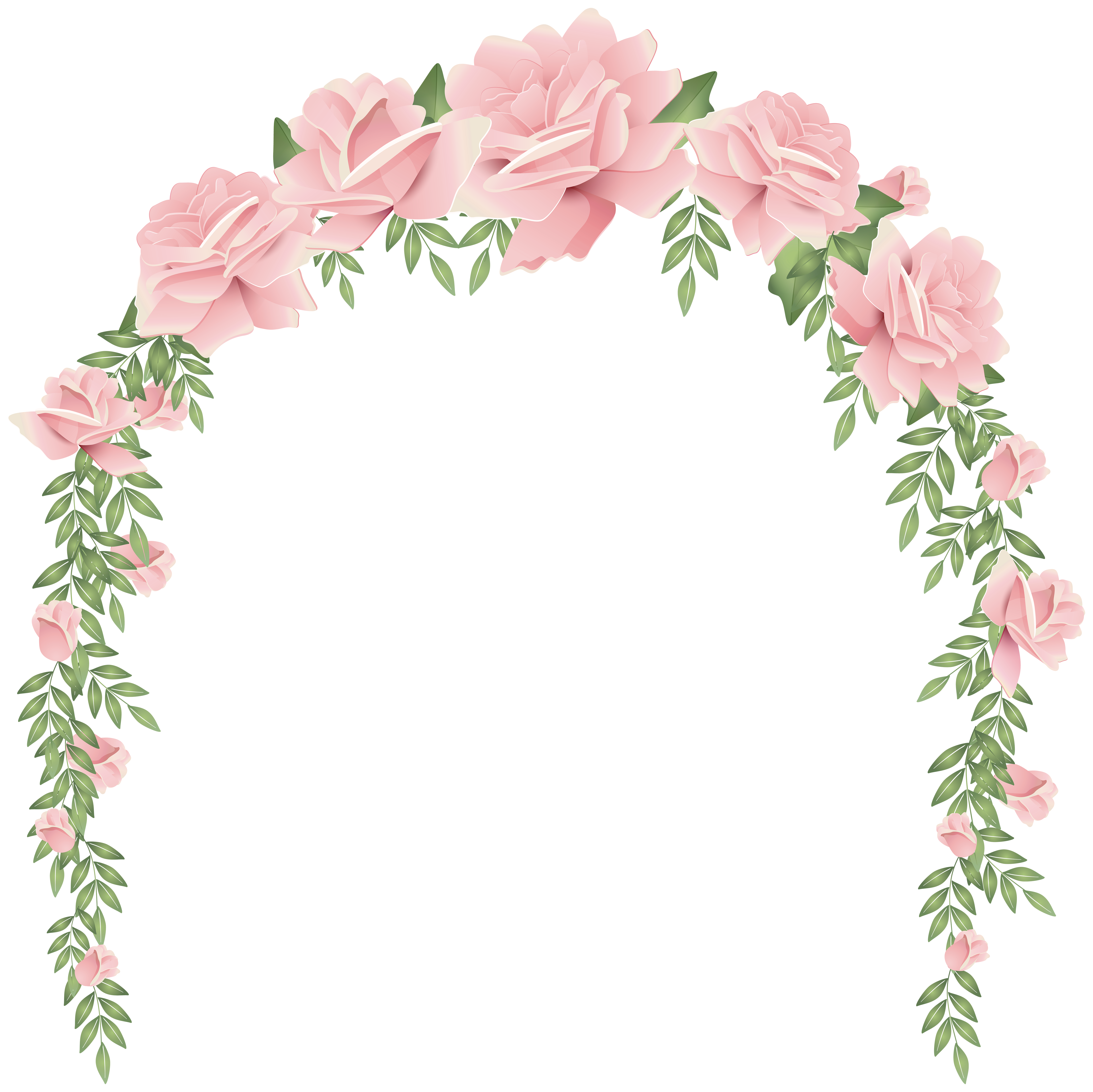 Flower arch clipart picture royalty free download Rose Arch Decorative Transparent Image | Gallery Yopriceville ... picture royalty free download