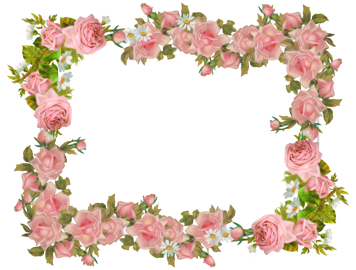 Flower arch clipart graphic library library Free digital vintage rose frame and scrapbooking paper - Rosenrahmen ... graphic library library