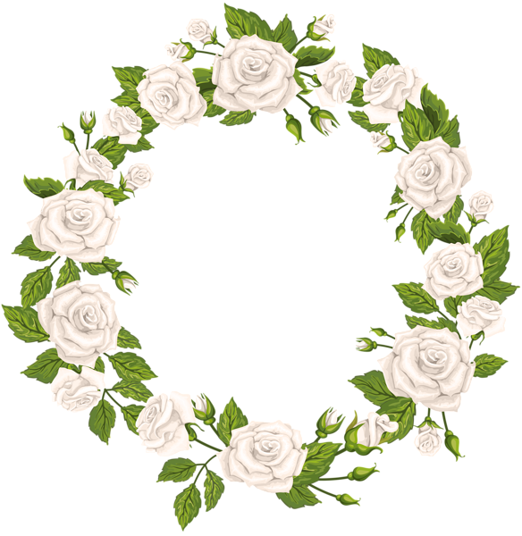 Flower arch clipart. Roses border white png