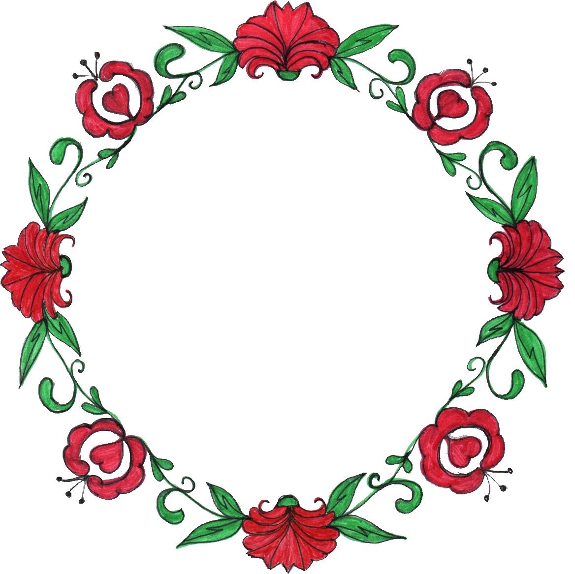 Flower circle border clipart vector transparent library Flower Circle Drawing at GetDrawings.com | Free for personal use ... vector transparent library