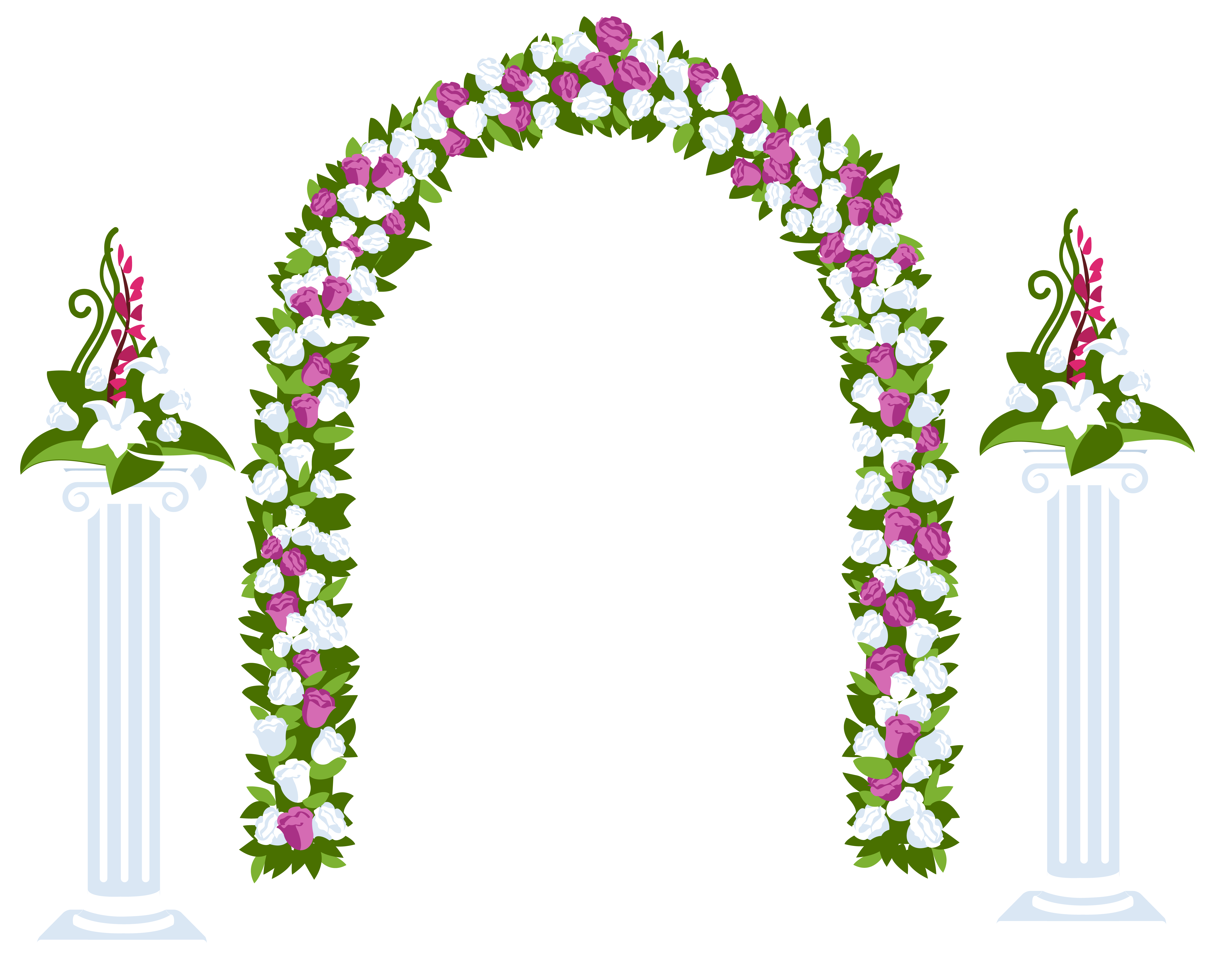 Flower arch clipart png transparent Floral Arch and Columns - Best WEB Clipart png transparent