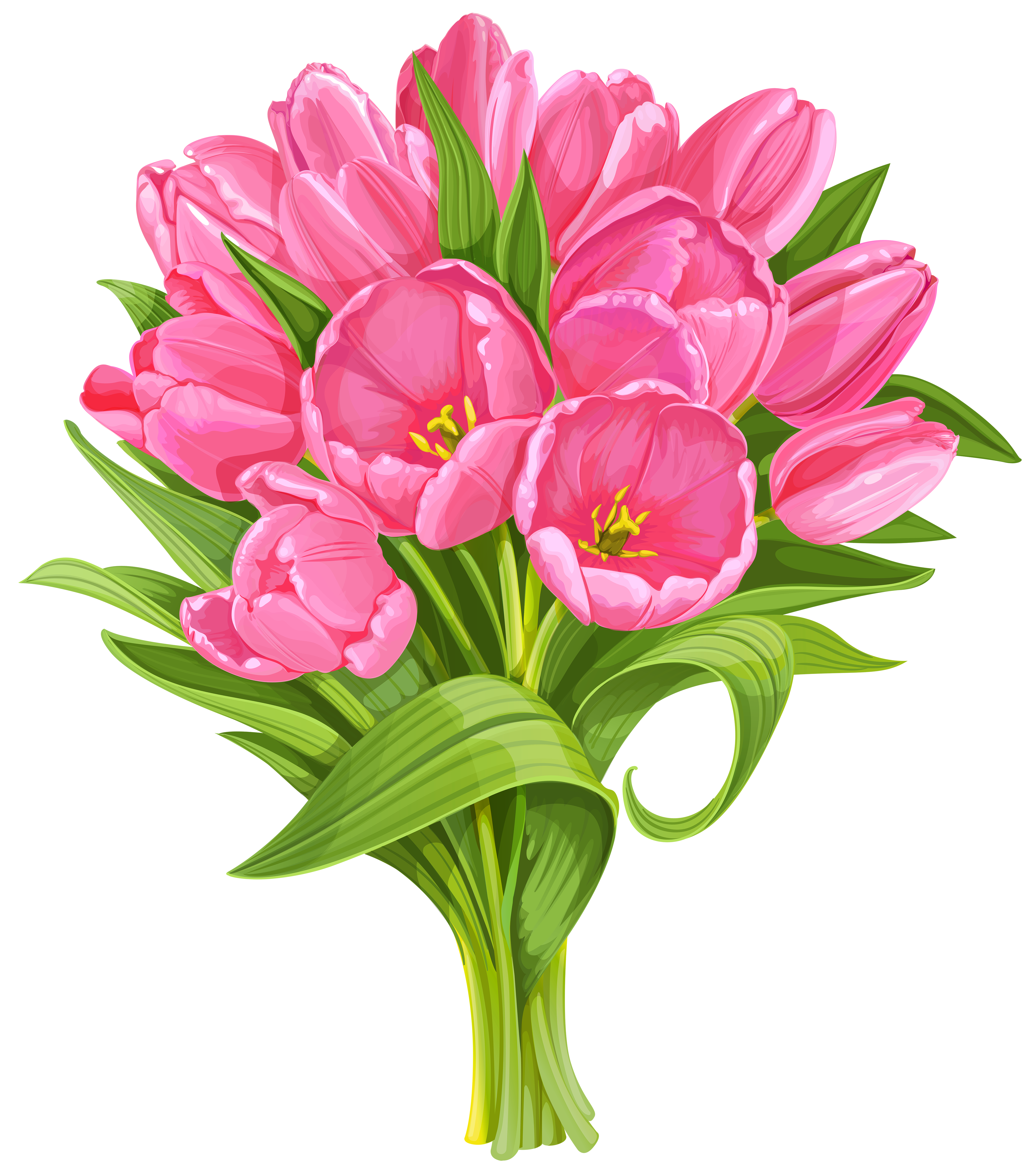 Flower bouquet clipart graphic free stock Tulips Bouquet Transparent PNG Clip Art | Gallery Yopriceville ... graphic free stock