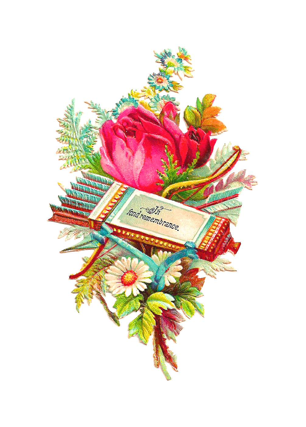 Flower arrow clipart banner library download Antique Images: Free Flower Clip Art: Antique Rose Graphic on ... banner library download