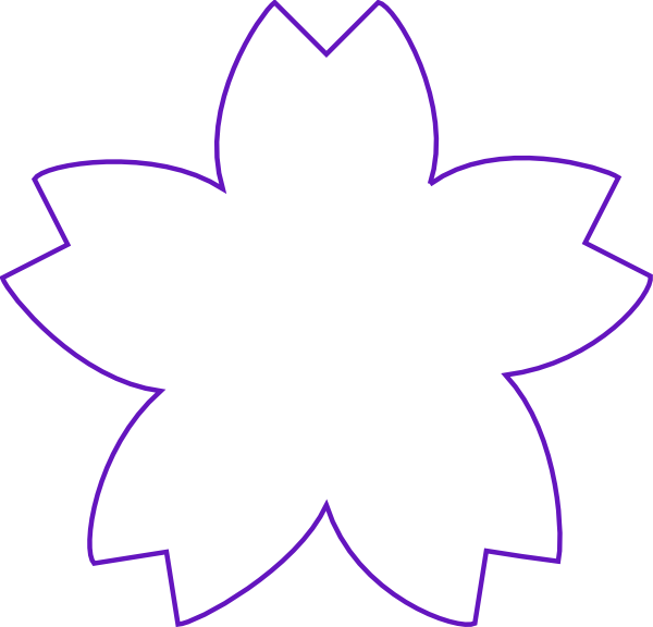 Shape purple clip art. Flower arrow clipart