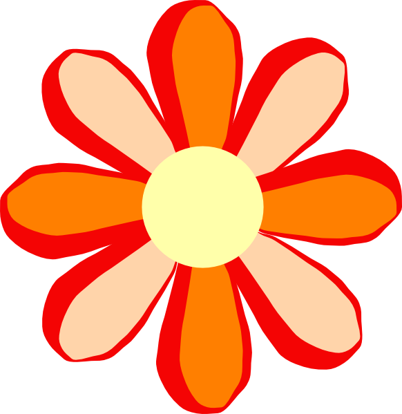 Flower clipart orange banner royalty free download Orange Flower Clip Art at Clker.com - vector clip art online ... banner royalty free download