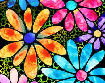 Flower artwork images banner library download View Floral Art Flowers by BuyArtSharonCummings on Etsy banner library download