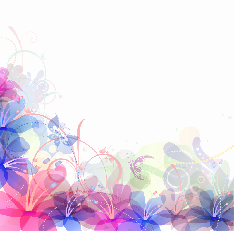 Flower background images free download picture transparent library Pastel Flowers Background Vector | Free Vector Graphic Download picture transparent library