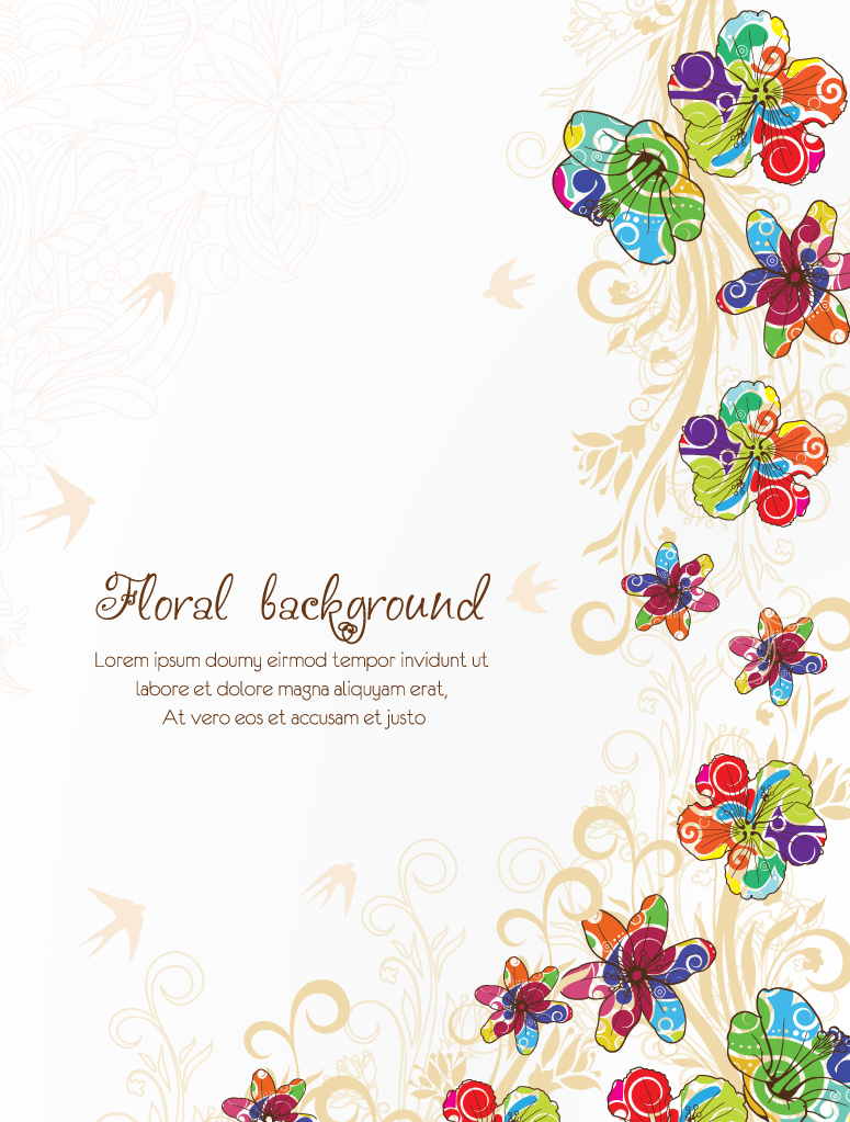 Flower background images free download banner black and white library Floral Background 3 | Free Vector Graphic Download banner black and white library