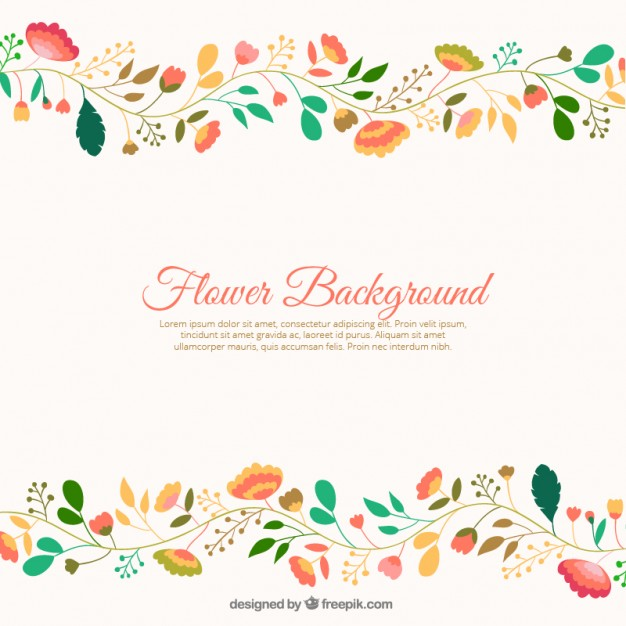 Flower background images free download jpg royalty free library Cute flowers background Vector | Free Download jpg royalty free library