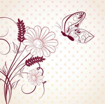 Flower background images free download clip art freeuse download Pink Flower Background Design-vector Pattern-free Vector Free Download clip art freeuse download