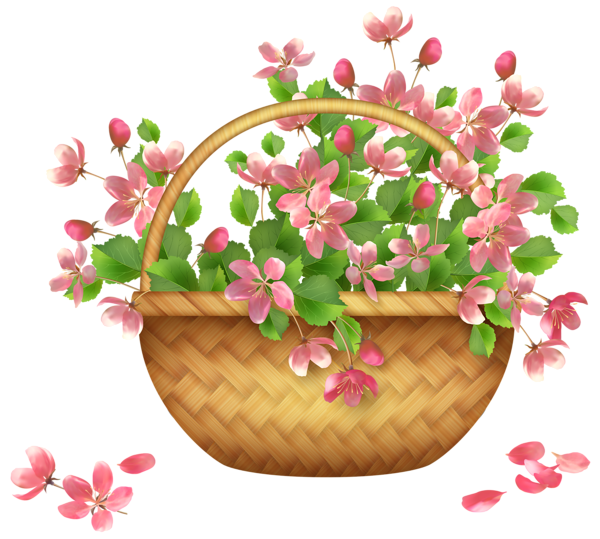 Hanging flower baskets clipart graphic library stock Spring Flower Basket PNG Clipart | Art~Flower Power | Pinterest ... graphic library stock