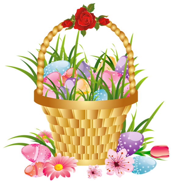 Flower baskets clipart vector royalty free download Gallery - Easter Pictures PNG vector royalty free download