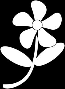 Clip art and . Flower black white clipart