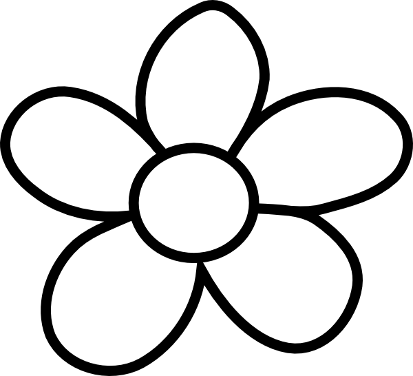 clipartlook. Flower clipart simple black and white