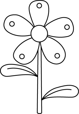 And image . Flower black white clipart