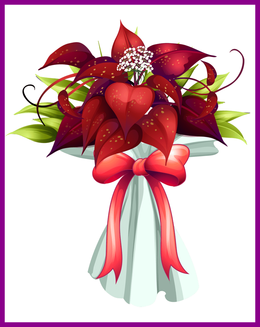 Flower bouquet clipart clip transparent Unbelievable Png Flowers Decoration Christmas And Album Of Bouquet ... clip transparent