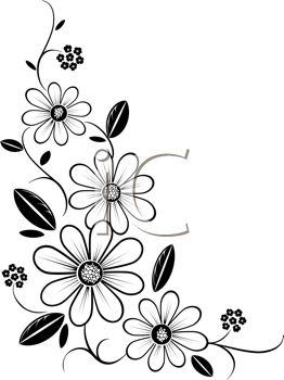 Free black & white flower clipart clip free Flower Frame Clipart Black And White | Free download best Flower ... clip free