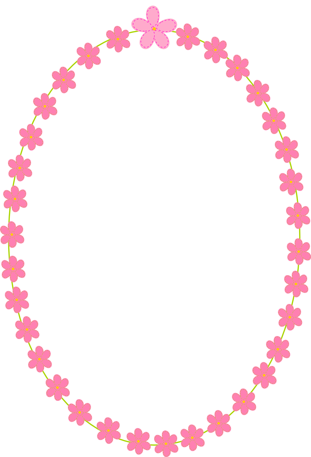 Flower border clipart no background png free White And Pink Flowers Border Png - 5641 - TransparentPNG png free