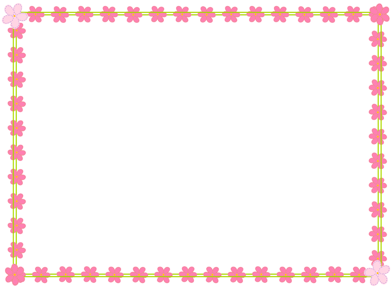 Flower border clipart no background png transparent stock free digital flower border scrapbooking elements - Clipart Rahmen ... png transparent stock